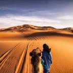 Camping in the Sahara Desert in Morocco